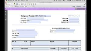 Get Microsoft Word Auto Repair Invoice Template Pics