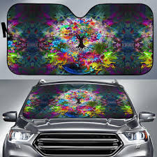 Windshield Sun Shades With Designs Tree Of Life Auto Sun Shade