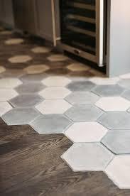 Contemporary floor tiles New White And Gray Hex Concrete Floor Tiles Contemporary Kitchen Gray And White Mosaic Floor Tile Interiorzinecom White And Gray Hex Concrete Floor Tiles Contemporary Kitchen Floor