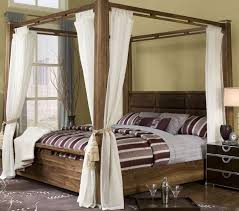 Glamorous 4 Post Canopy Bed Frame Wood Kit Plans Metal Twin Daybed ...