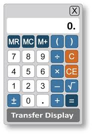 using the gre quantitative measure calculator for test takers  an image of an on screen four function calculator is shown the