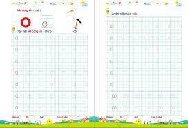 Bé Tập Tô, Tập Viết Chữ To (Dành cho trẻ 4 - 6 tuổi - Phiên bản mới) - Tập  kẻ ngang Thương hiệu OEM