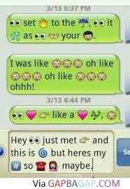 Hilarious Emoji Text Message About Song Lyrics Funny Text