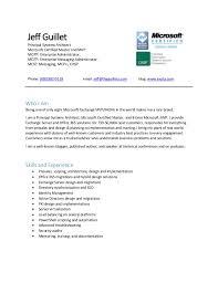Microsoft Mvp Certification Resume Of Jeff Guillet