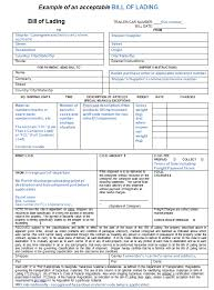 bill of lading software free bill of lading forms templates in word and pdf excel template