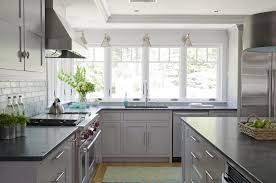 Light Grey Kitchen Cabinets With Black Counters