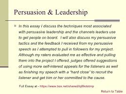 leadership portfolio  10 persuasion leadership