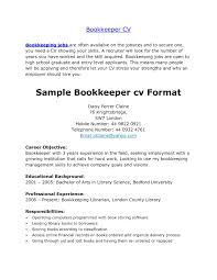 Bookkeeping Resume Example Bookkeeping Resume Sample Download now Examples Resumes Example Cv 8