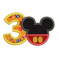 Safari Mickey Applique Design Mickey Ears 3rd Birthday Applique Design