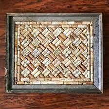 Wine cork board in a barnwood frame | rustic home decor | True North Crafts  by