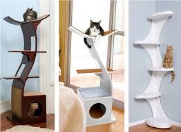 modern design cat furniture. Contemporary Cat Tree With Litter Box Tower Modern Design Furniture T