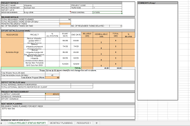 Weekly Project Status Report Template Excel Top Form Templates