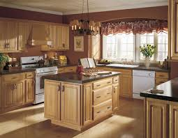 kitchen cabinets paint colorsCountry Style Kitchen cabinets Colors with Oak Cabinets  Home Design