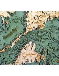 Cape Cod Wood Chart Woodcharts Cape Cod Lg Bathymetric 3 D Wood Carved Nautical Chart