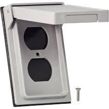 weatherproof receptacle covers 1 gang cooper wiring s2962 1 gang duplex receptacle cover gray