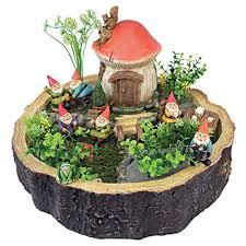 amazon design toscano garden gnome statue tiny forest friends gnome house fairy garden gnome village garden outdoor