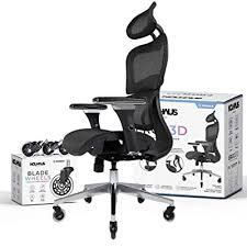 rolling desk chair with 3d adjustable