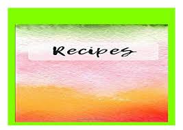 Recipe Journals P D F_book Recipes Blank Cookbook And Recipe Journal