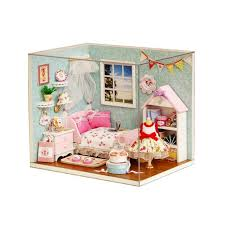 Miniature Dollhouse Furniture Diy Minatura Wooden Doll House