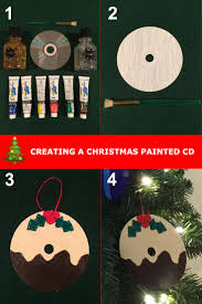 Make a unique looking Christmas decoration using an old CD as a canvas.  Step by