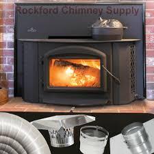 napoleon 1402 fireplace insert wood burning 6 in x 25 ft chimney liner kit