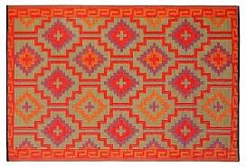 fab habitat plastic outdoor rug orange crafted from fab habitat plastic outdoor rug orange crafted from