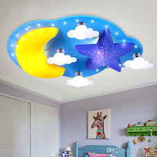 led children s room bedroom ceiling lamp warm personality minimalist cartoon star moon cloud baby boy girl room ceilling light ceilling light ceiling lamp