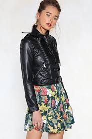 Pin on Black Leather <b>Jacket</b> Girls