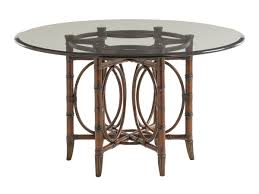 rattan dining room set. coral sea rattan dining table with glass top room set f