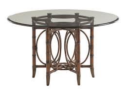 landara c sea rattan dining table with glass top lexington