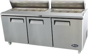 Counter Fridge Atosa Three Door Open Top Counter Fridge Msf8304 Euro Pizza Ovens