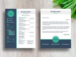 Resume Modern Format Free Modern Cv Resume Template With Cover Letter Page In