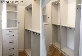 emily henderson california closets organization master closet side by side 1