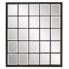 Black Frame Square Mirror Bellacor