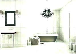 chandelier over bathtub above tub view full size soaking bathtubs hanging black the brown color very chandelier over bathtub