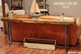 rustic wood iron table diy