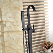 modern freestanding bathtub faucet tub filler oil rubbed bronze floor mount with mixer taps in shower