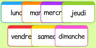 French Days Of The Week Days Of The Week Flashcards French