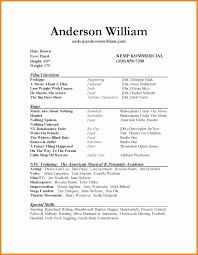 Acting Resume Templates Actor Resume Template Best Of Lovely Acting Resume Template 67