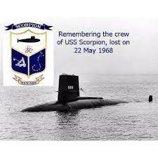 「1968 USS Scorpion, SSN-589」の画像検索結果