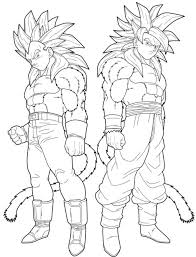 Small Picture Coloring Pages Goku Super Saiyan 4 Dzrleathercom