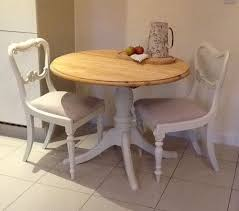 small round pine dining table kitchen table 2 chairs