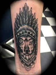 Tetování Indian Vlk Tetování Tattoo