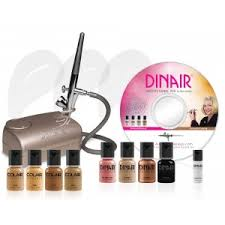 dinair airbrush makeup kit personal pro tan chagne pressor rakuten ebay sears