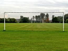 grass soccer field with goal. Grass Structure Field Lawn Meadow Pasture Stadium Baseball Plain Golf Course Club Sports Grassland Soccer With Goal D