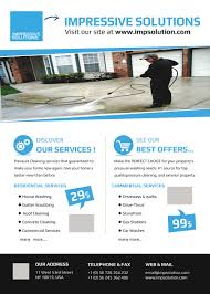 design a flyer for a pressure cleaning company lancer 4 for design a flyer for a pressure cleaning company by shahirnana