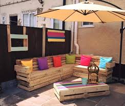 outdoor furniture with pallets. delighful with pallet patio lsofa with hanging parasol on outdoor furniture with pallets