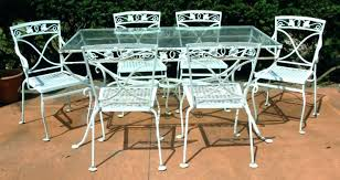 white iron patio furniture. Beautiful Patio Metal Outdoor Dining Sets White Table Gorgeous Wrought Iron  Patio Furniture Residence Decorating   With White Iron Patio Furniture