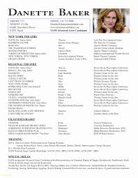Musical Theater Resume Template Download Now 50 Fresh Theatre Resume