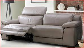 immaculate 3 seater dfs riposo granite leather sofa with power recliners and phone charger